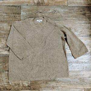 Madewell Tan Waffle Knit Sweater
